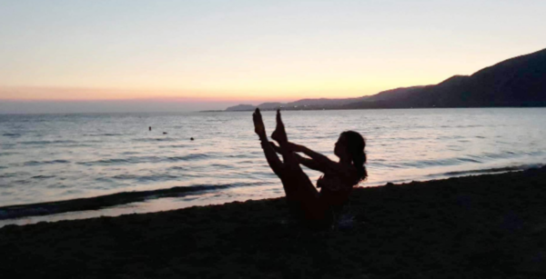 Maria Stamataki in yoga time